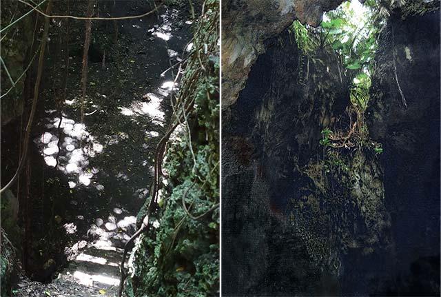 ヌドクビアブの階段と底からの写真